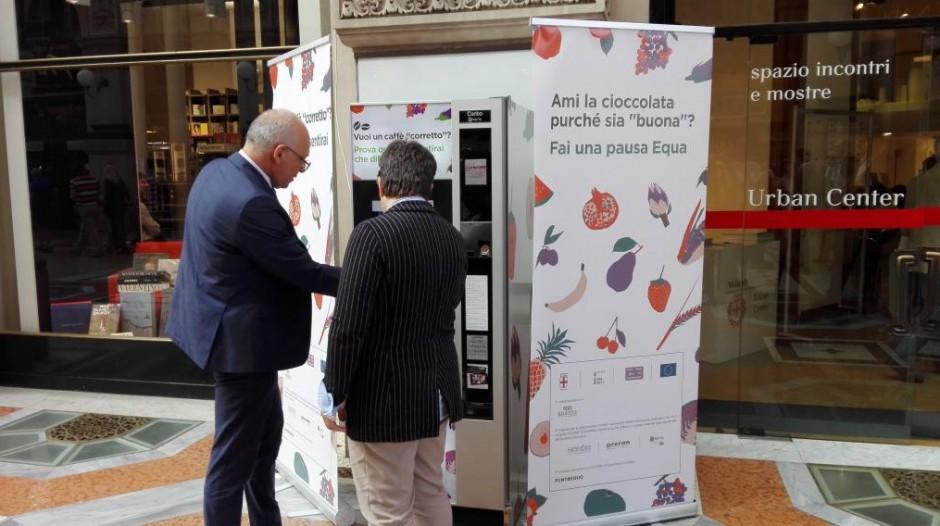 Un caffè ''corretto'' dalla vending machine equosolidale di Serim